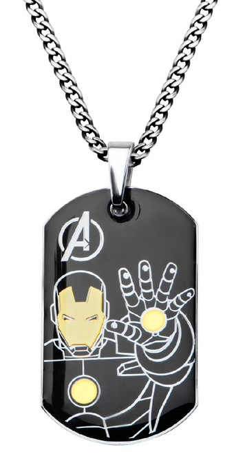Iron Man Battle Stance Dog Tag Necklace