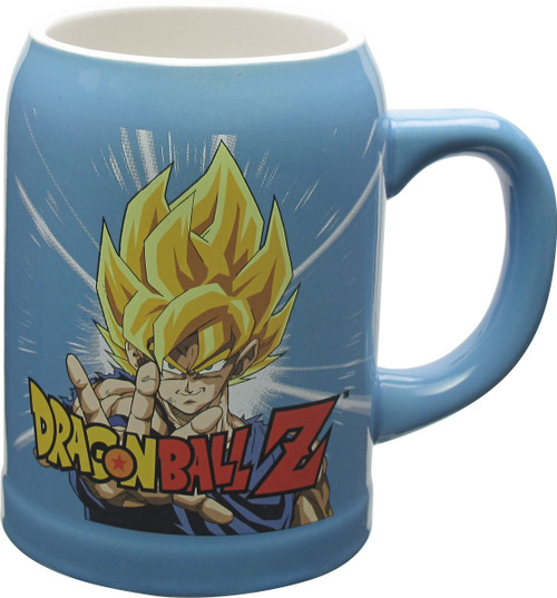Dragon Ball Z Goku and Super Saiyan Goku Stein Mug