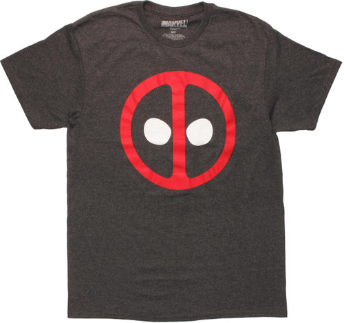 Deadpool Logo Charcoal T-Shirt