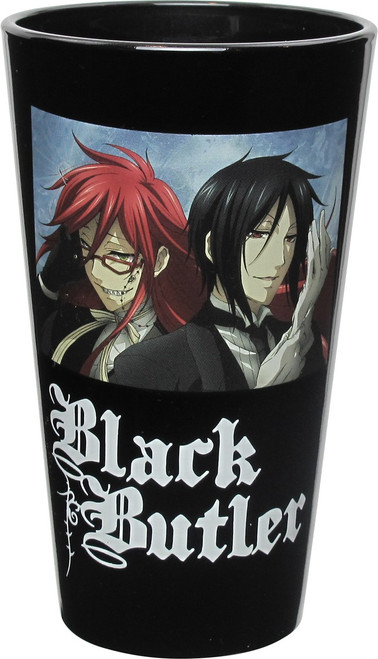 Black Butler Grell and Sebastian Pint Glass