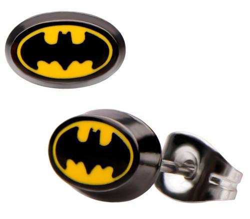 Batman Oval Logo Stud Earrings