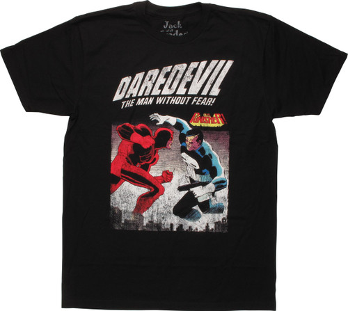 Daredevil vs Punisher Dist Cover T-Shirt