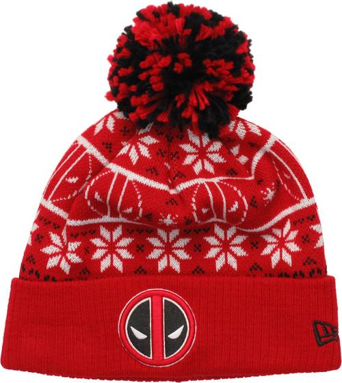 Deadpool Logo Sweater Chill Pom Beanie