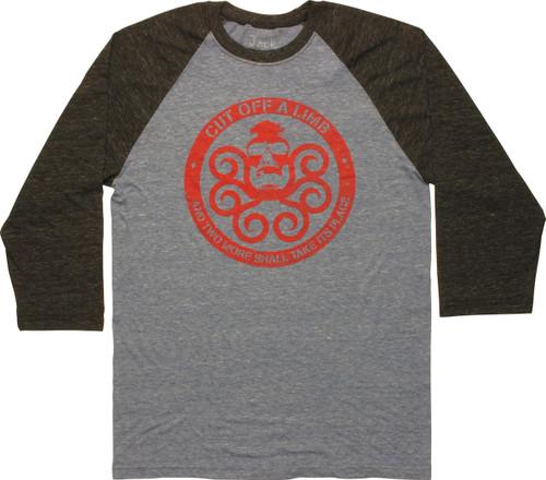 Hydra Cut Off a Limb Contrast Raglan T-Shirt