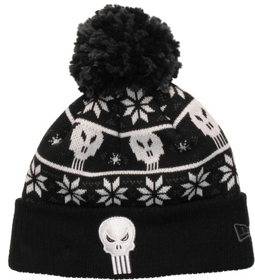 Punisher Logo Sweater Chill Pom Beanie
