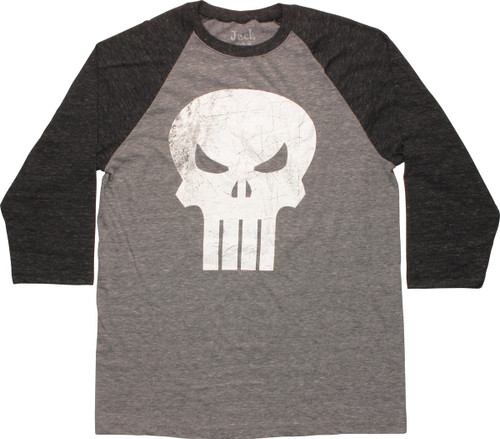 Punisher Skull Contrast Raglan T-Shirt