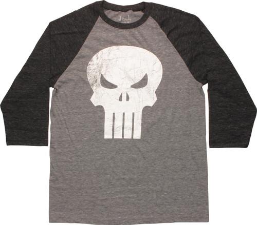 Punisher Skull Contrast Raglan T-Shirt