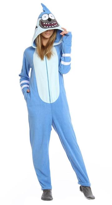 Regular Show Mordecai Costume Union Suit