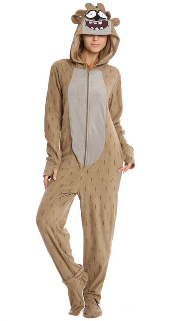 Regular Show Rigby Costume Hooded Union Suit