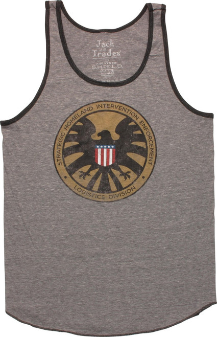 SHIELD Defense Distressed Logo Tank Top