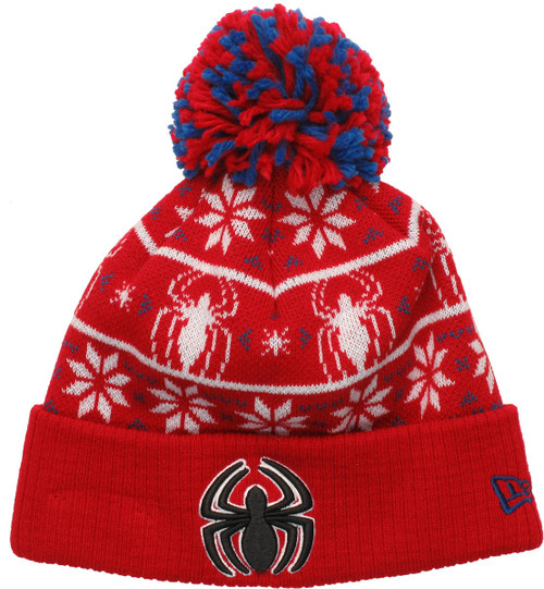 67984be8f35 Spiderman Logo Sweater Chill Pom Beanie beanie-spiderman-sweater-chill-pom
