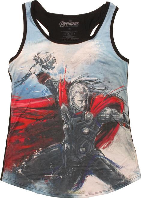 Thor Art Sublimated Tank Top Juniors T-Shirt