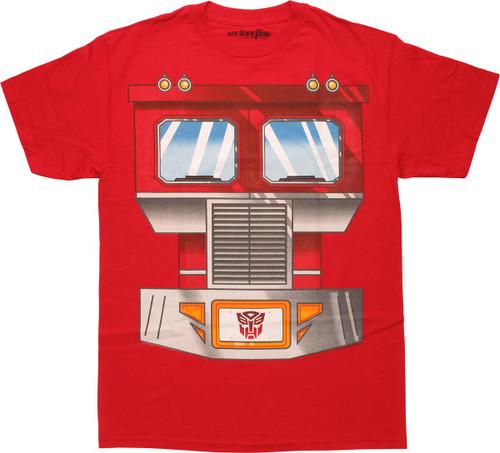 Transformers Optimus Prime Chestplate T-Shirt