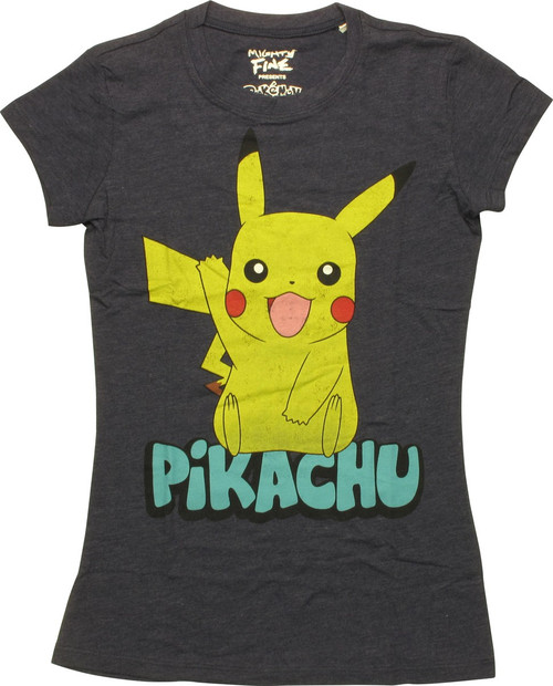 26c780402 Pokemon Pikachu Wave Juniors T-Shirt baby-tee-pokemon-pikachu-word-mf