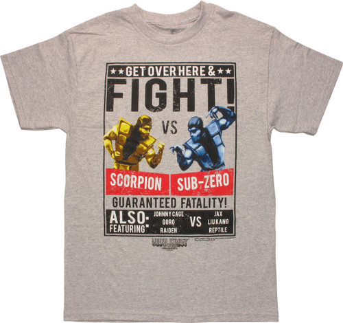 Mortal Kombat Fight Scorpion vs Sub-Zero T-Shirt