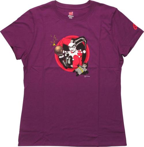 Harley Quinn Bat Doll and Bomb Ladies T-Shirt