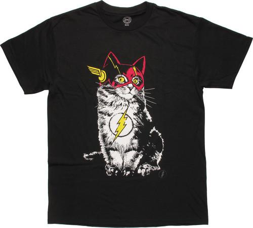 Flash Cat in Costume T-Shirt
