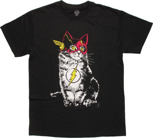 Flash Cat in Costume T-Shirt