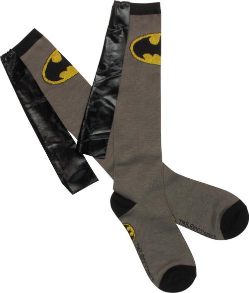 Batman Logo Shiny Caped Knee High Socks