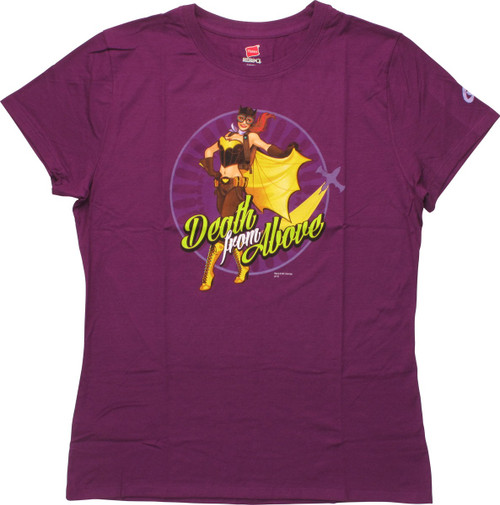 Batgirl Death From Above Ladies T-Shirt