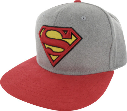 Superman Logo Felted Crown Buckle Hat