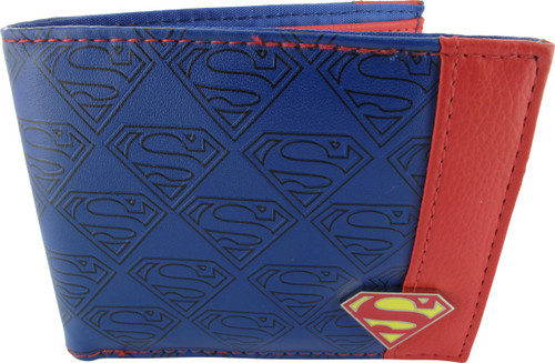 Superman Debossed Logos Bifold Wallet