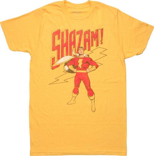 Shazam Standing Retro T-Shirt