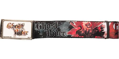 Ghost Rider Name Buckle Action Mesh Belt