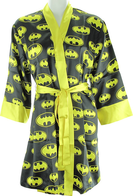 Batman All Over Logo Satin Junior Robe