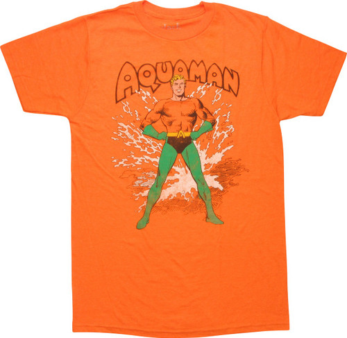 Aquaman Splash Retro T-Shirt