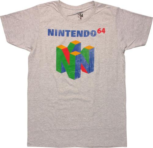Nintendo 64 Cube Logo Heather T-Shirt