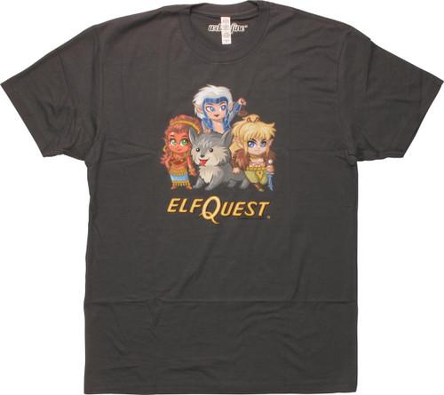 Elfquest Cutie Group of Four Charcoal T-Shirt