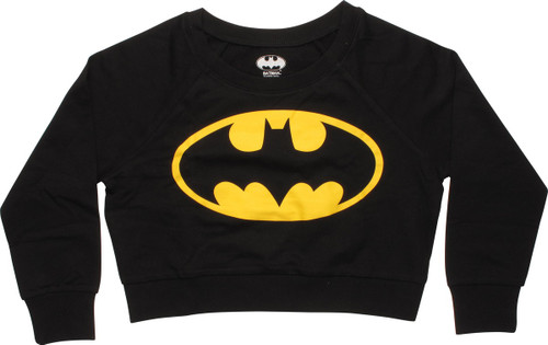 Batman Logo Crop Top Junior Sweatshirt