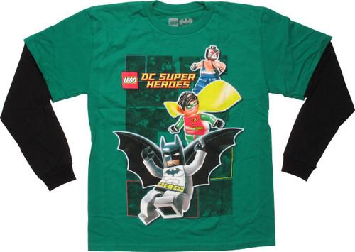 Batman Lego Robin Bane Long Sleeve Youth T-Shirt
