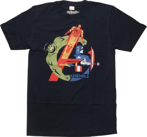Avengers Assemble Team in Logo T-Shirt