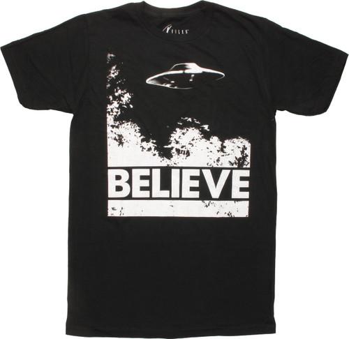 X Files UFO Believe T-Shirt
