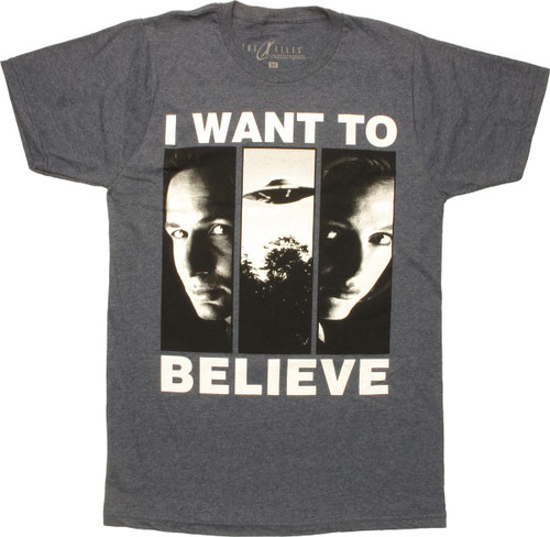 X Files I Want to Believe Panels T-Shirt