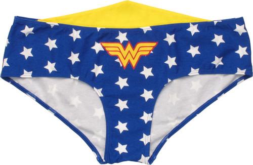 Wonder Woman Tiara Stars Hipster Panty