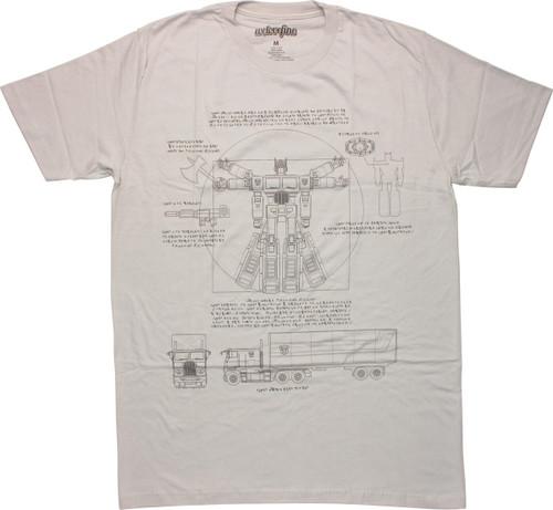 Transformers Vitruvian Optimus T-Shirt