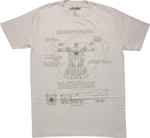 Transformers Vitruvian Optimus T-Shirt