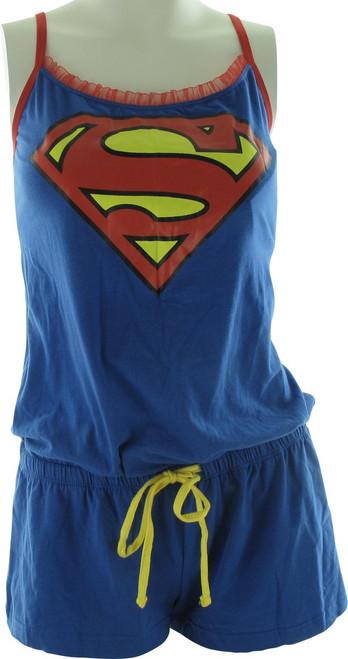 Superman Logo Cami Junior Romper