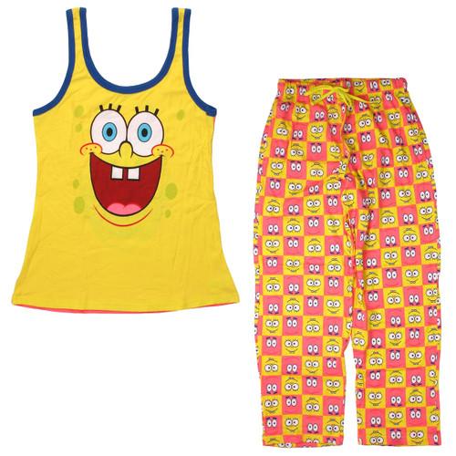 Spongebob Patrick Reverse Tank Junior Pajama Set