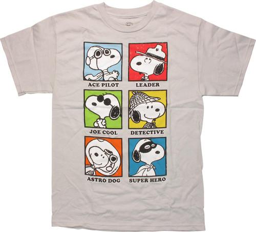 b699c8c39 Peanuts Snoopy Career Squares T-Shirt