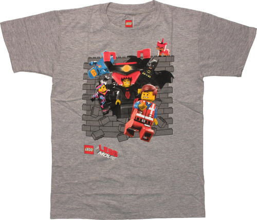 Lego Movie Wall Bust Youth T-Shirt