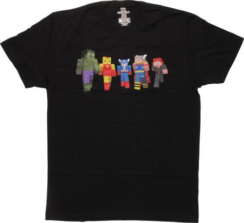 Avengers Block Figures T-Shirt