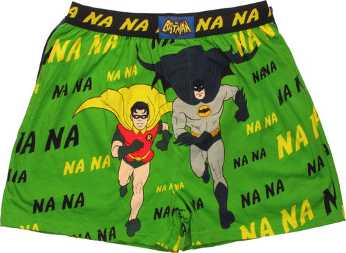 Batman and Robin Running Caped Boxers