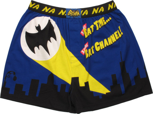 Batman Same Bat Time Glow in the Dark Boxers