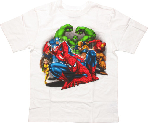 Marvel Heroes Ready to Protect Youth T-Shirt