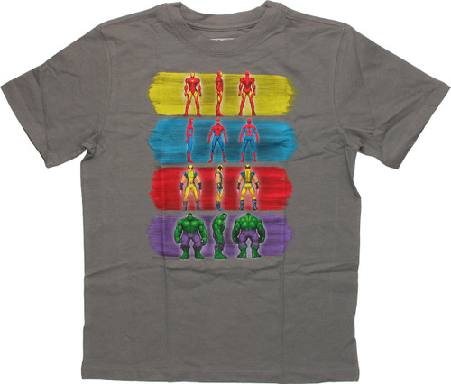 Marvel Paint Strokes and Pose Youth T-Shirt