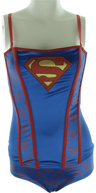 Superman Corset and Brief Lingerie Set